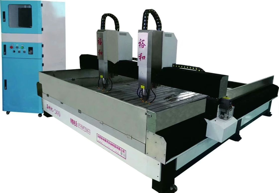 High Accuracy Stone Engraving Equipment , 3D Stone Carving Machine With Offline Controller